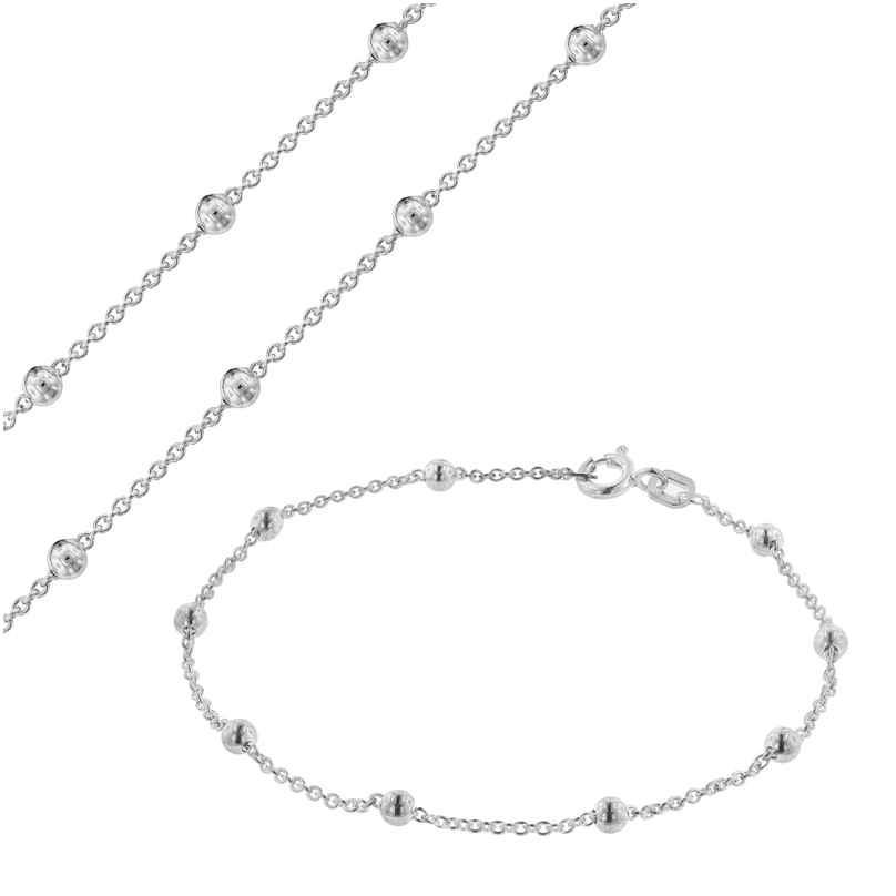 trendor 75231 Schmuckset für Damen Kette und Armband Silber 925 4260641752317