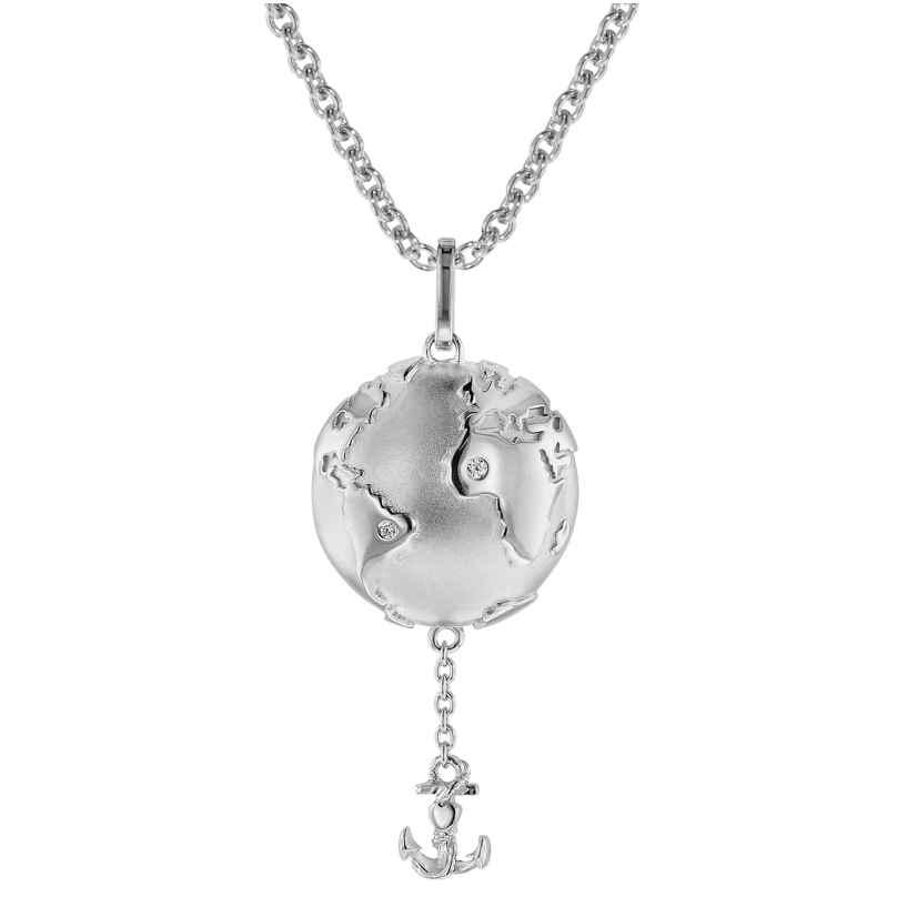 trendor 75496 Halskette mit Anhänger Planet Erde Silber 925 4260641754960