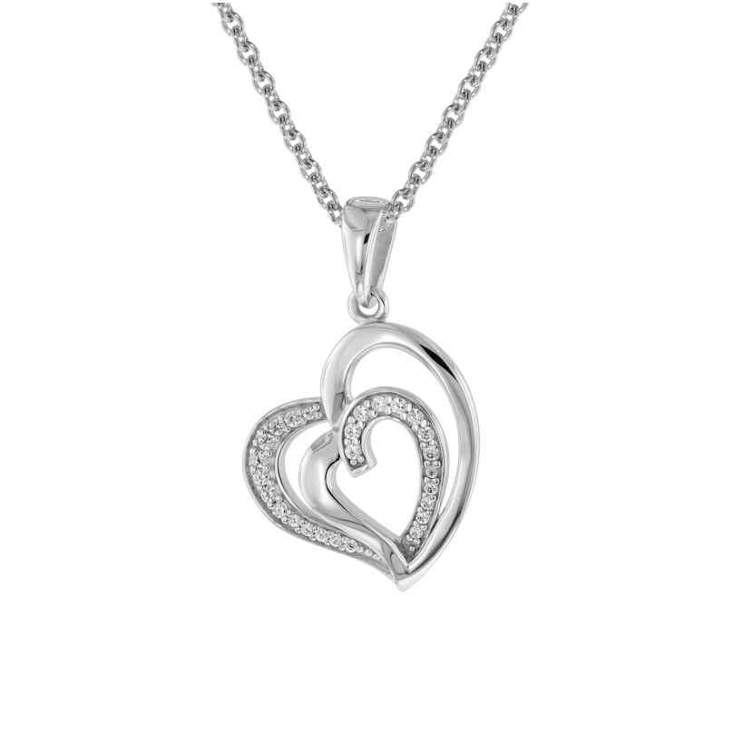 trendor 75504 Halskette mit Anhänger Herz in Herz Silber 925 4260641755042
