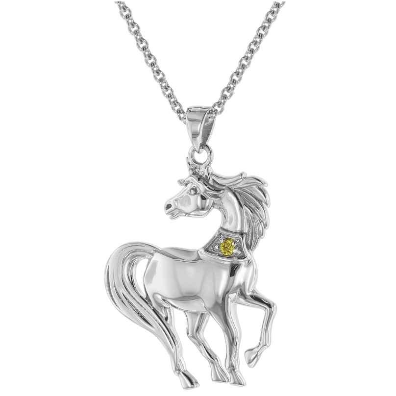 trendor 75506 Halskette mit Pferd Anhänger Silber 925 4260641755066
