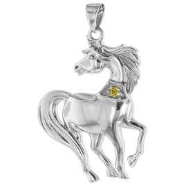 trendor 75506 Halskette mit Pferd Anhänger Silber 925