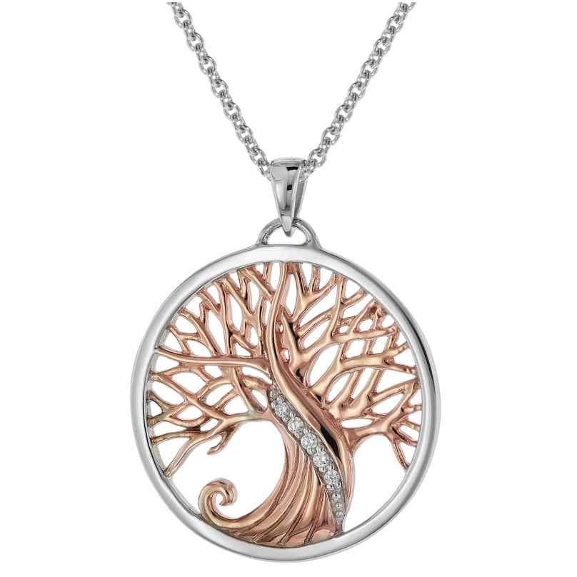 trendor 75513 Halskette mit Anhänger Lebensbaum Silber 925 4260641755134