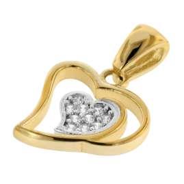 trendor 75561 Herz-Anhänger Gold 333 / 8 Karat mit vergoldeter Silberkette