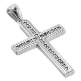 trendor 75596 Cross Pendant 20 mm with Necklace Silver 925
