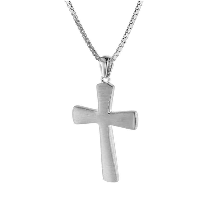trendor 75601 Halskette für Männer mit Kreuz 29 mm Silber 925 4260641756032