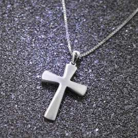 trendor 75601 Men's Necklace with Cross Pendant 29 mm 925 Silver