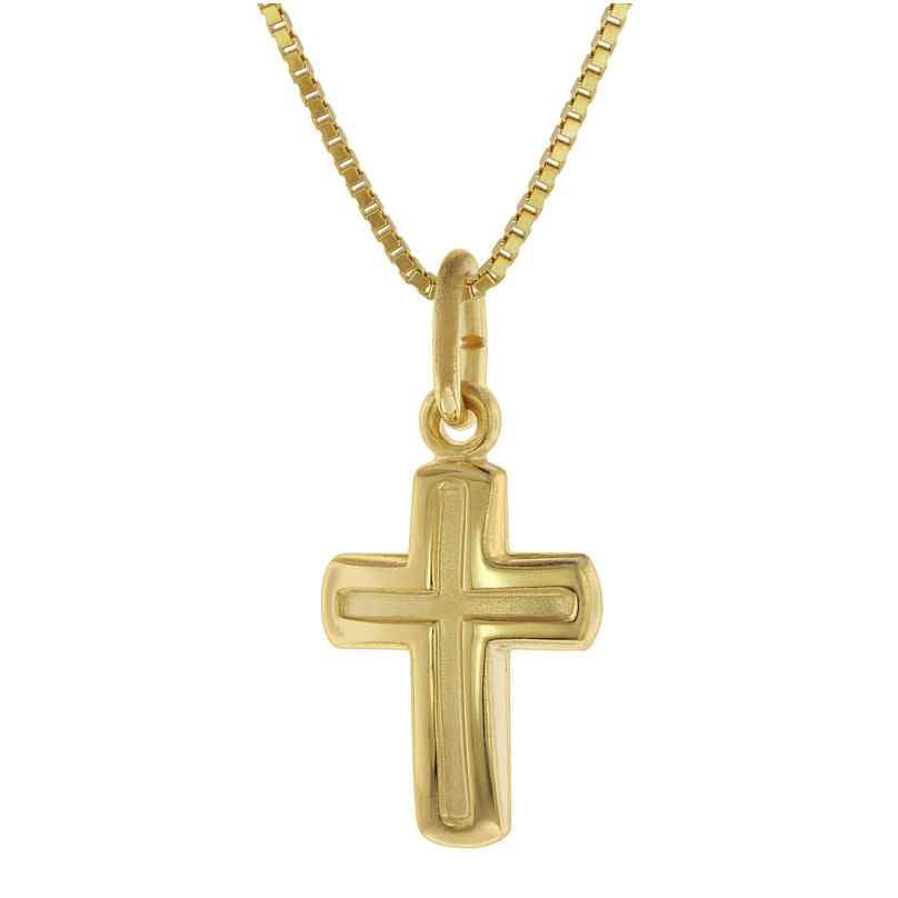 trendor 75624 Children's Necklace with Cross Pendant Gold 333 / 8 Carat 4260641756247