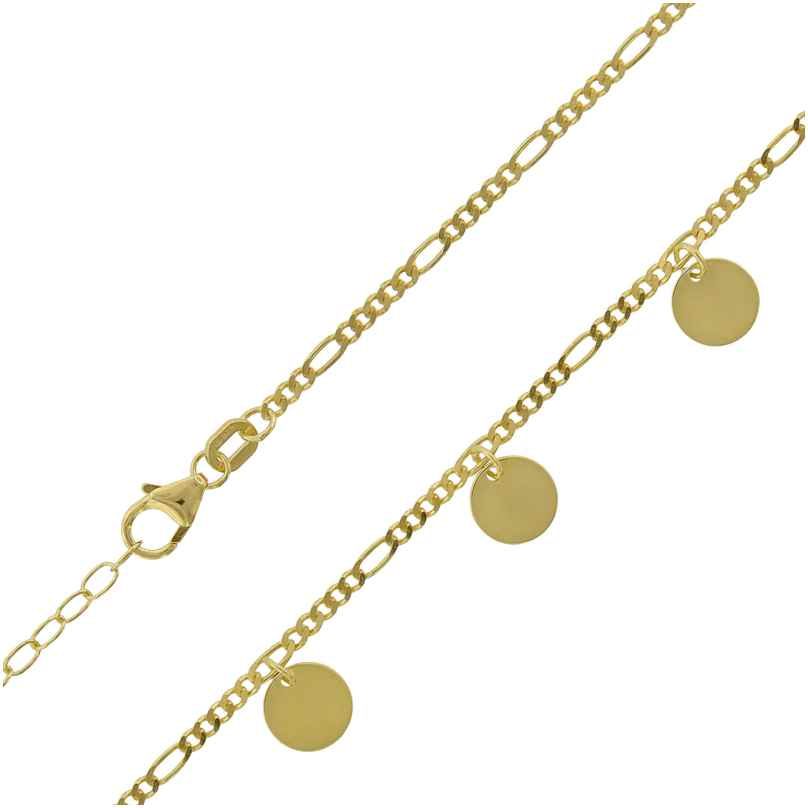 trendor 75651 Women's Necklace with Plates Gold-Plated Silver 4260641756513