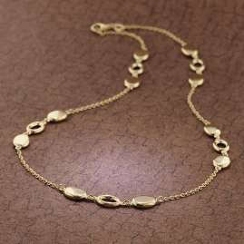 trendor 75669 Ladies' Necklace Gold 585 (14 carat) Fantasy