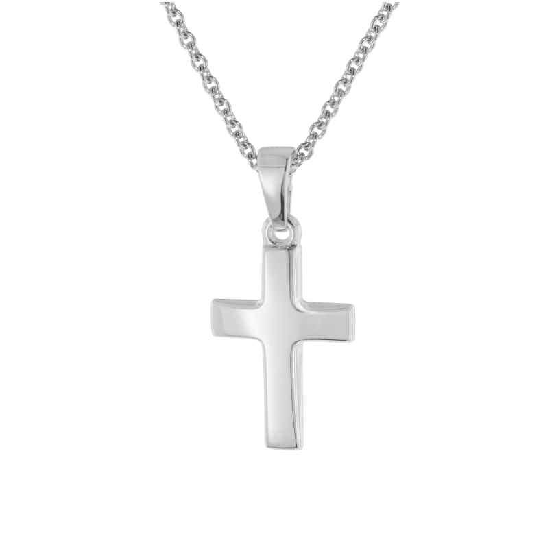 trendor 75691 Kreuz-Anhänger für Kinder Weißgold 333 + Silberkette 4260641756919