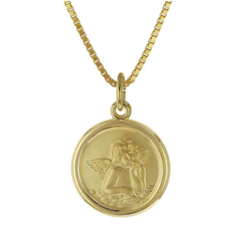 trendor 75714 Girls Necklace with Cupid Angel Gold Plated Silver 925 4260641757145