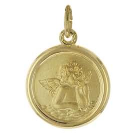trendor 75714 Mädchen Halskette mit Amor-Engel Gold auf Silber 925