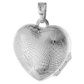 trendor 75752 Damen-Halskette mit Herz-Medaillon Silber 925