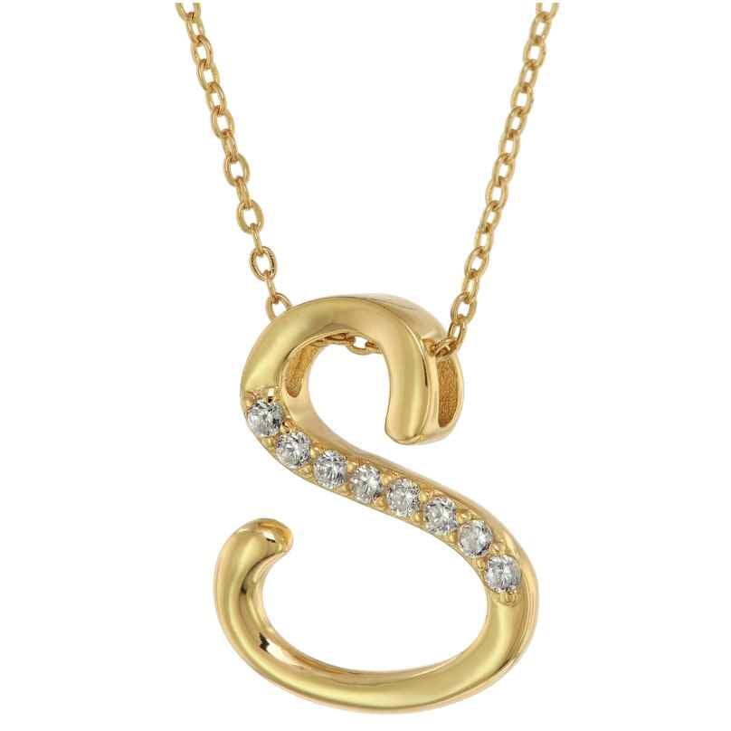 trendor 75852 Damen-Halskette Gold auf Silber mit Zirkonias 4260641758524