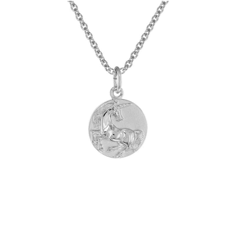 trendor 75949 Kinder-Halskette mit Einhorn-Anhänger Silber 925 4260641759491