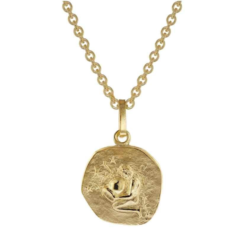 trendor 75905-02 Sternzeichen für Kinder Wassermann Gold 333 Anhänger + Kette 4260641759026
