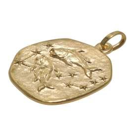 trendor 75905-03 Sternzeichen für Kinder Fische Gold 333 Anhänger + Halskette