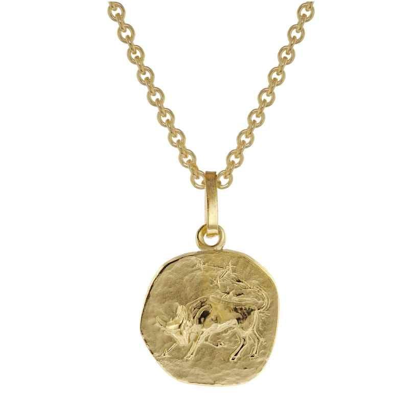 trendor 75905-05 Sternzeichen für Kinder Stier Gold 333 Anhänger + Halskette 4260641759057