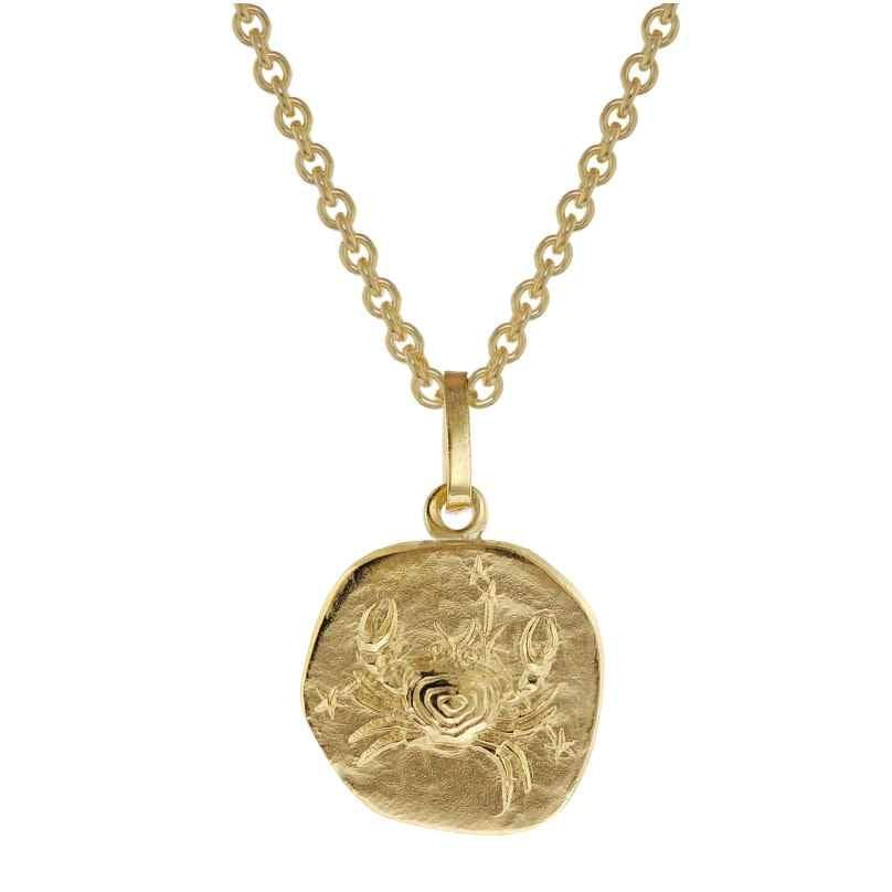 trendor 75905-07 Sternzeichen für Kinder Krebs Gold 333 Anhänger + Halskette 4260641759071