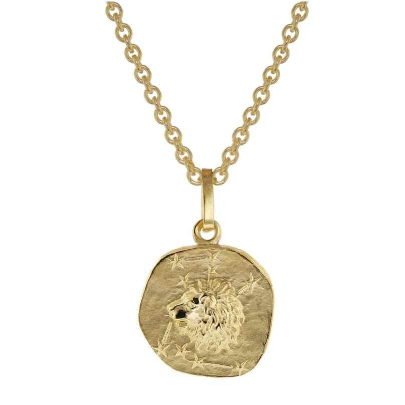 trendor 75905-08 Zodiac Sign for Children Lion Gold 333 Pendant + Necklace 4260641759088