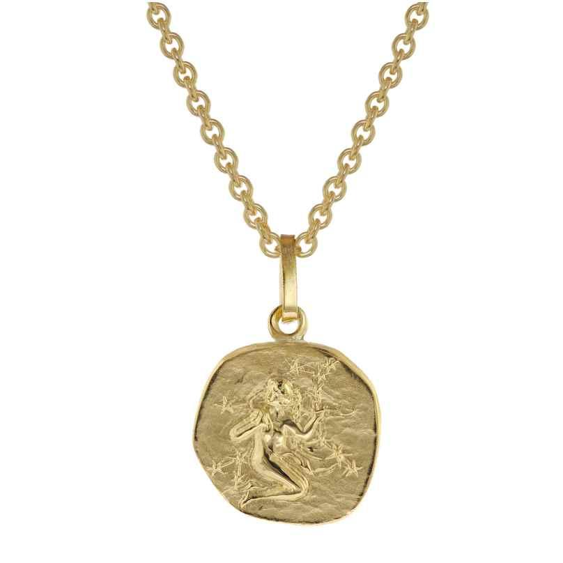 trendor 75905-09 Sternzeichen für Kinder Jungfrau Gold 333 Anhänger + Kette 4260641759095