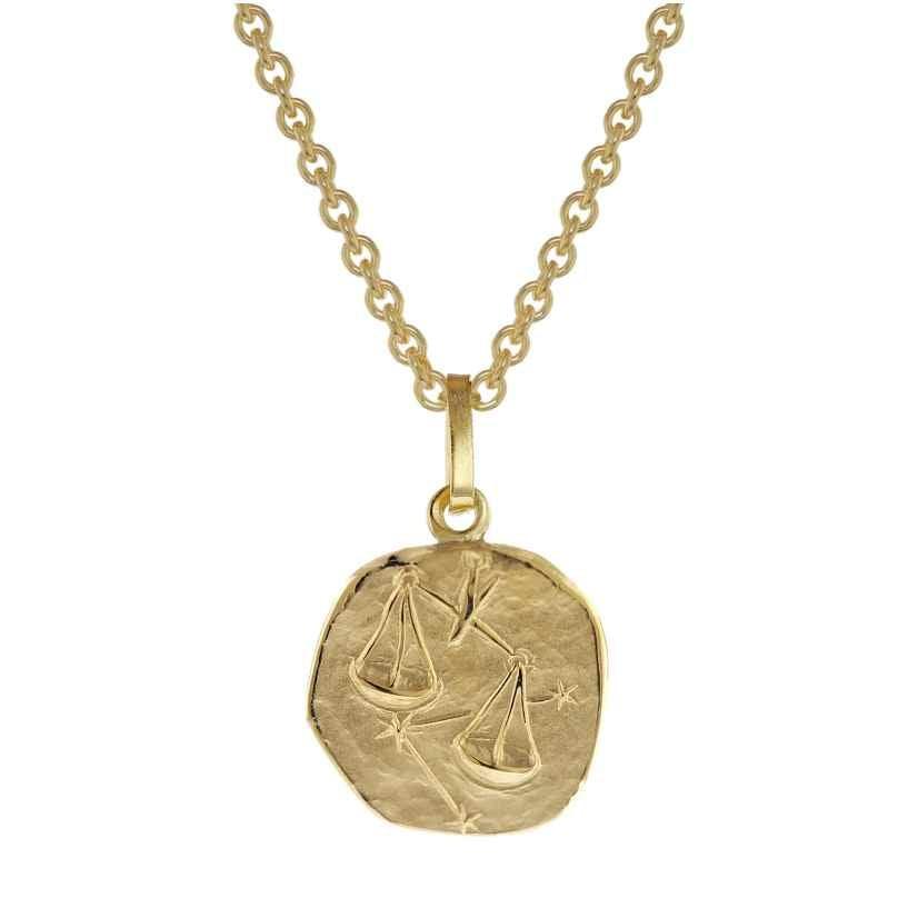 trendor 75905-10 Zodiac Sign for Children Libra Gold 333 Pendant + Necklace 4260641759101