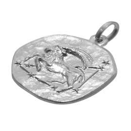 trendor 75920-01 Kids Zodiac Sign Capricorn White Gold 333 Pendant + Necklace