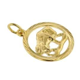 trendor 75940-05 Sternzeichen Stier Gold 333 Anhänger Ø 16 mm + Halskette