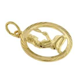trendor 75940-09 Sternzeichen Jungfrau Gold 333 Anhänger Ø 16 mm + Halskette