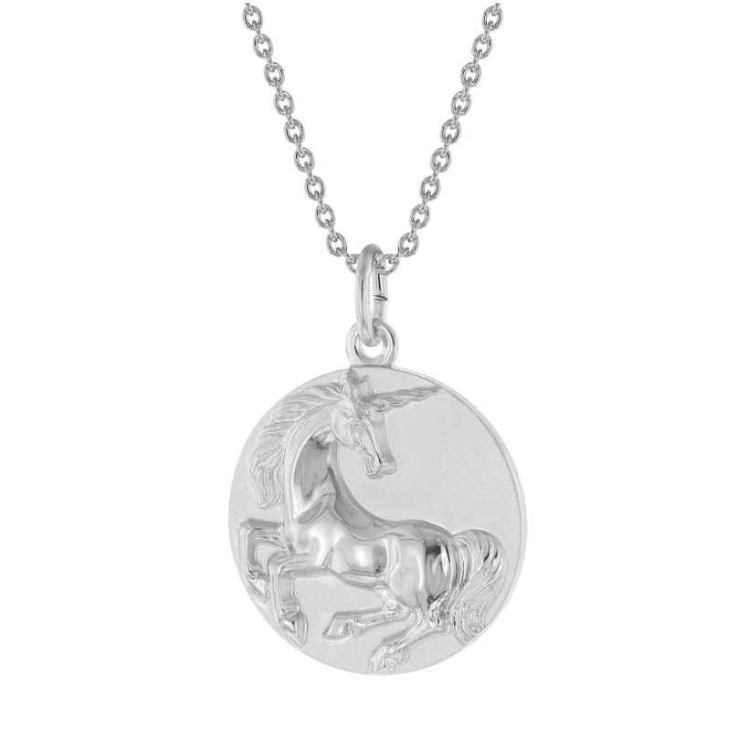 trendor 75998 Halskette mit Einhorn Anhänger Silber 925