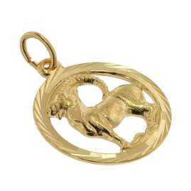 trendor 75990-01 Kids Capricorn Zodiac Sign 333 Gold + Gold-Plated Necklace