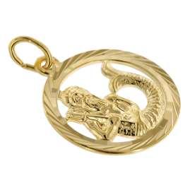 trendor 75990-02 Sternzeichen Wassermann 333 Gold + plattierte Kinder-Kette