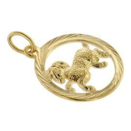 trendor 75990-04 Sternzeichen Widder 333 Gold + goldplattierte Kinder-Kette