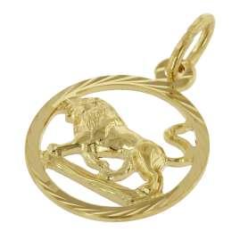 trendor 75990-08 Kinder Sternzeichen Löwe 333 Gold + goldplattierte Kette
