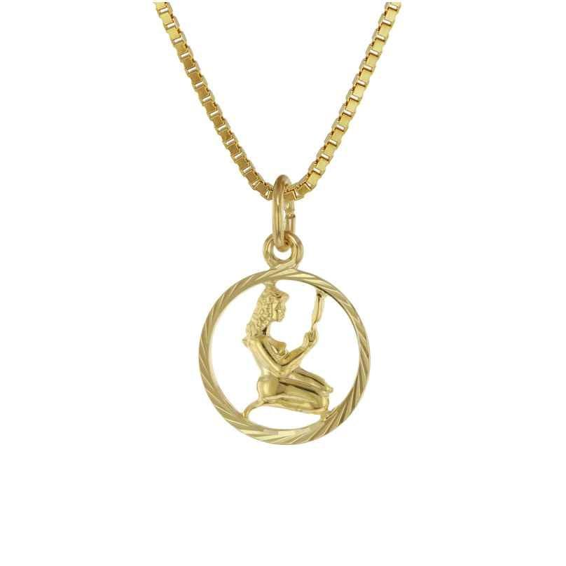 trendor 75990-09 Kids Zodiac Sign Virgo 333 Gold + Gold-Plated Necklace 4260641759941