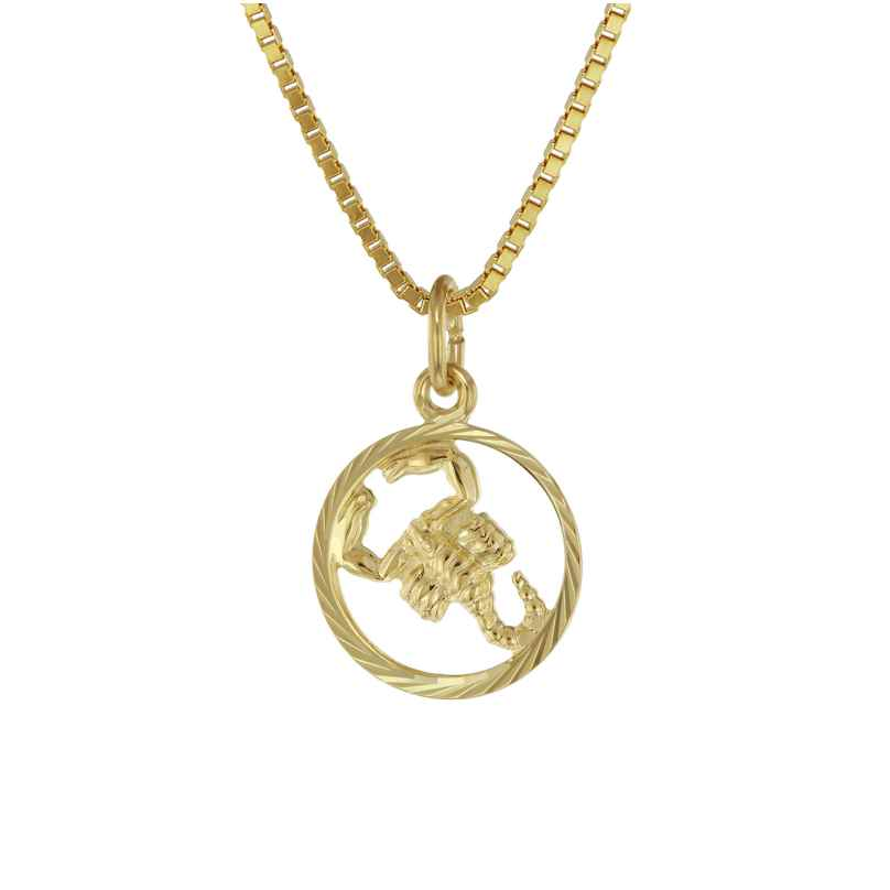 trendor 75990-11 Kids Zodiac Sign Scorpio 333 Gold + Gold-Plated Necklace 4260641759965