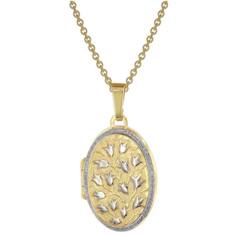 trendor 75978 Medaillon 333 Gold (8 Karat) + vergoldete Silber-Halskette