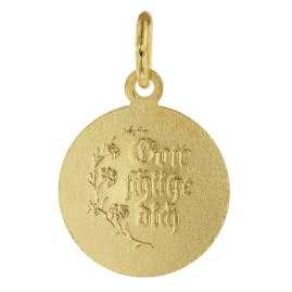 trendor 39041 Schutzengel Anhänger Gold 585 (14 Kt) + vergoldete Silberkette