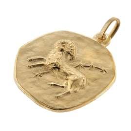 trendor 39070-04 Widder Sternzeichen Anhänger Herren-Halskette Gold auf Silber
