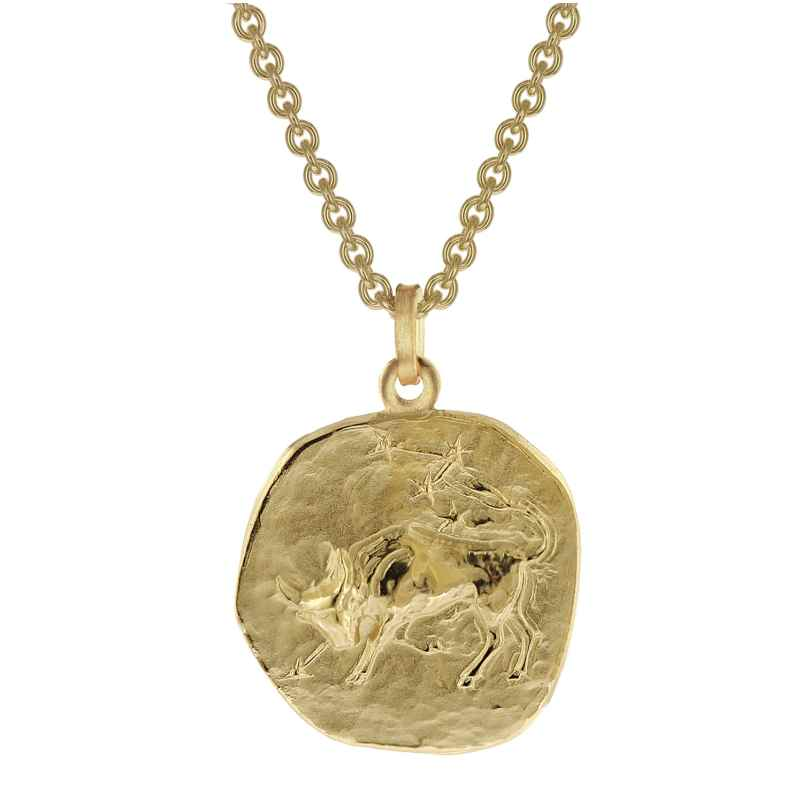 trendor 39070-05 Zodiac Sign Taurus Men's Necklace Gold Plated Silver 925