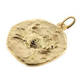 trendor 39070-07 Krebs Sternzeichen Anhänger Herren-Halskette Gold auf Silber