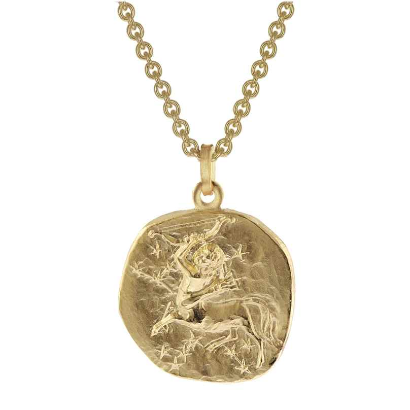 trendor 39070-12 Schütze Sternzeichen Anhänger Herrenkette Gold auf Silber