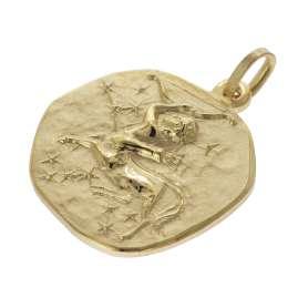 trendor 39070-12 Zodiac Sign Sagittarius Men's Necklace Gold Plated Silver 925