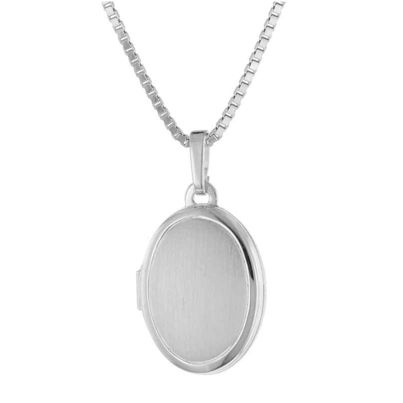 trendor 39444 Medaillon mit Halskette für Damen Silber 925