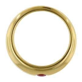 trendor 39460 Anhänger Taufring Gold 333 mit Rubin an goldplattierter Kette