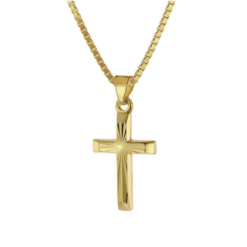 trendor 39520 Halskette mit Kreuz für Kinder Gold 333/8 Karat