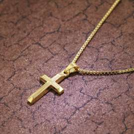 trendor 39520 Cross Pendant Necklace for Children Gold 333/8 K