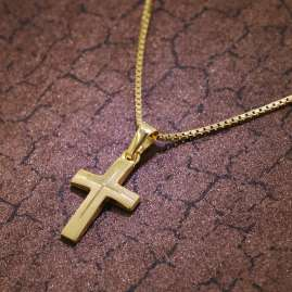 trendor 39522 Cross Necklace for Children Gold 333/8 K