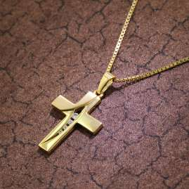 trendor 39525 Cross Necklace Gold 333/8 K