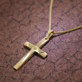 trendor 39526 Necklace with Cross Pendant Gold 333/8 K